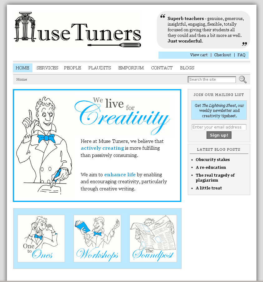Muse Tuners website