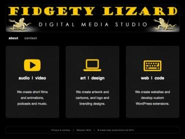 Fidgety Lizard website